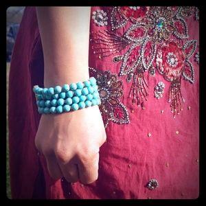 Jewelry - Four-Strand  Turquoise  Stone  Bracelet!💎